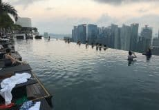 Marina Bay Sands Pool 07:00 Früh