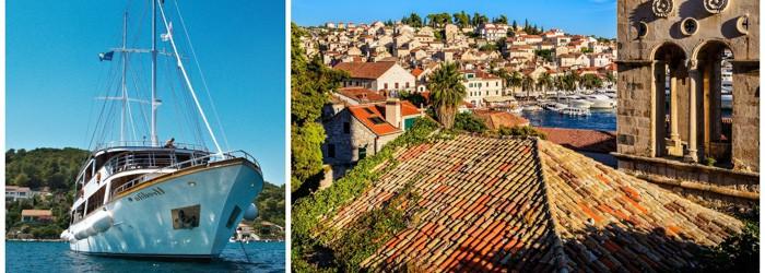 Segeln in Kroatien: 7 Nächte Segeltrip im adriatischen Meer auf einem 5* Luxus Motorsegelboot inkl. Halbpension ab 249€ p.P.