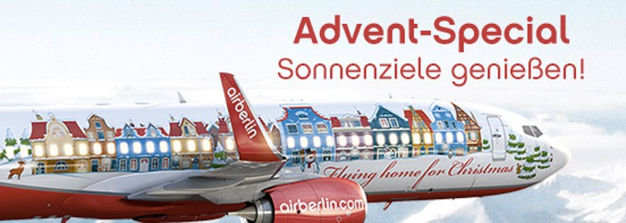 Advent-Special bei Airberlin: Sonnenziele ab 149 Euro pro Person