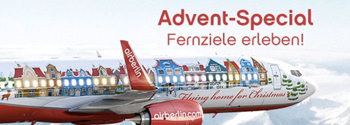 Advent-Special bei Airberlin: Fernziele ab 429 Euro pro Person