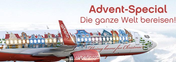 Advent-Special bei Airberlin: Die ganze Welt bereisen ab 89€ p.P.