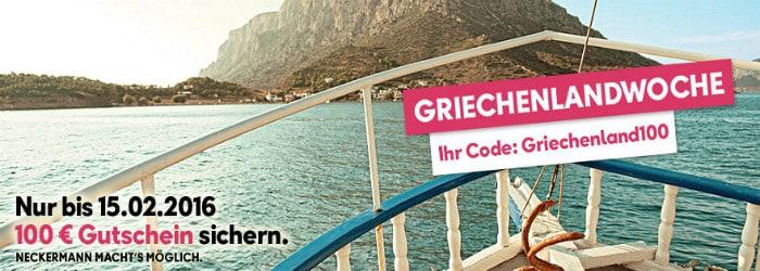 100 € Rabatt auf Griechenland Buchungen bei Neckermann-Reisen.at – 1 Woche inkl. Halbpension & Flug ab nur 329 € !!