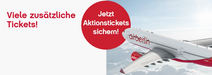 airberlin Aktionstickets