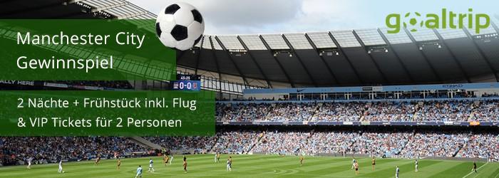 Gewinnspiel – Manchester City Fußballtrip für 2 Personen