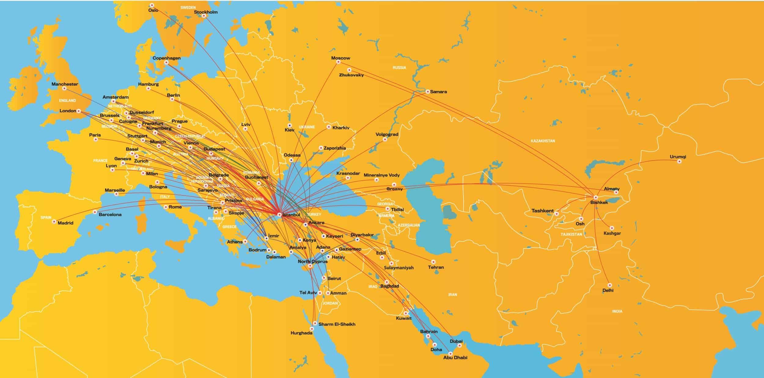 Pegasus Streckennetz