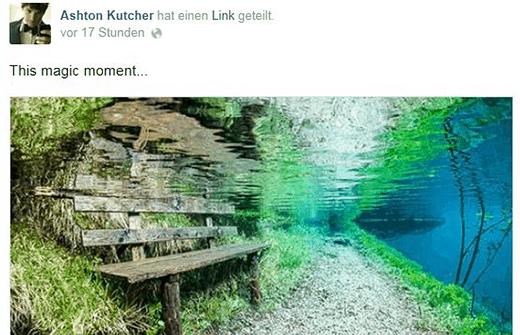 Grüner See Ahston Kutcher