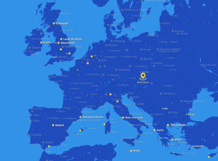 Strecken Ryanair