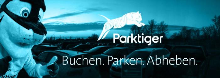 Parktiger Flughafenparkplatz Aktion