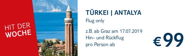 TUI Hit der Woche Flug Only Antalya