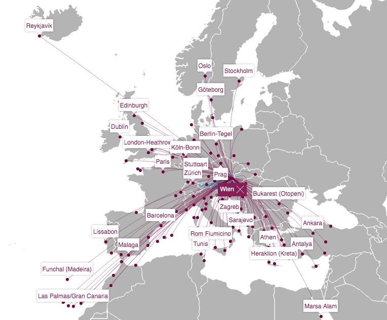 Eurowings Streckennetz