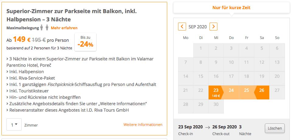 Valamar Parentino Hotel SE Angebot