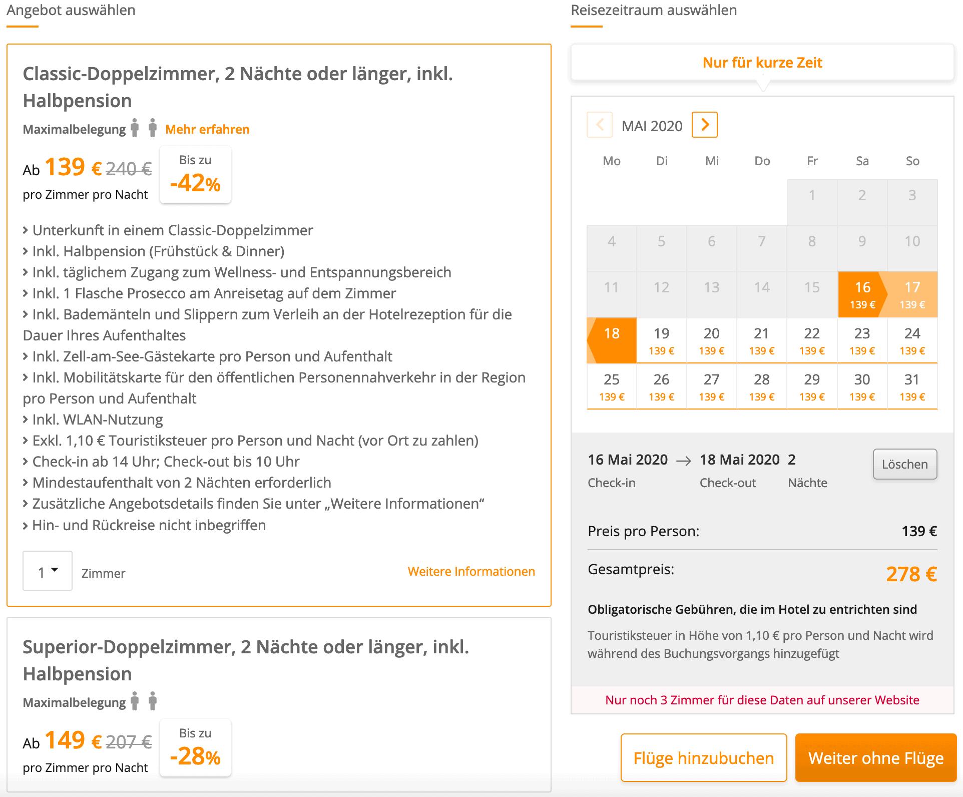 Hotel Früner Baum SE Angebot