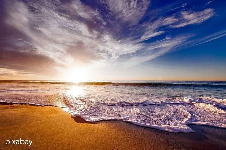 Urlaub mit Freunden Strand