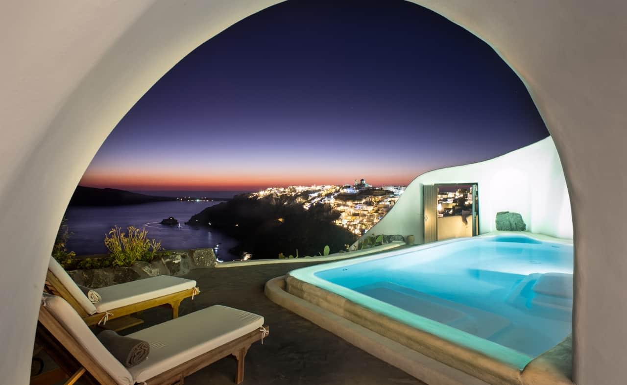 Hotels mit fantastischer Aussicht Santorin