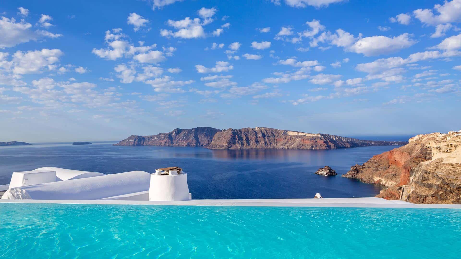 Die schönsten Pools Santorin