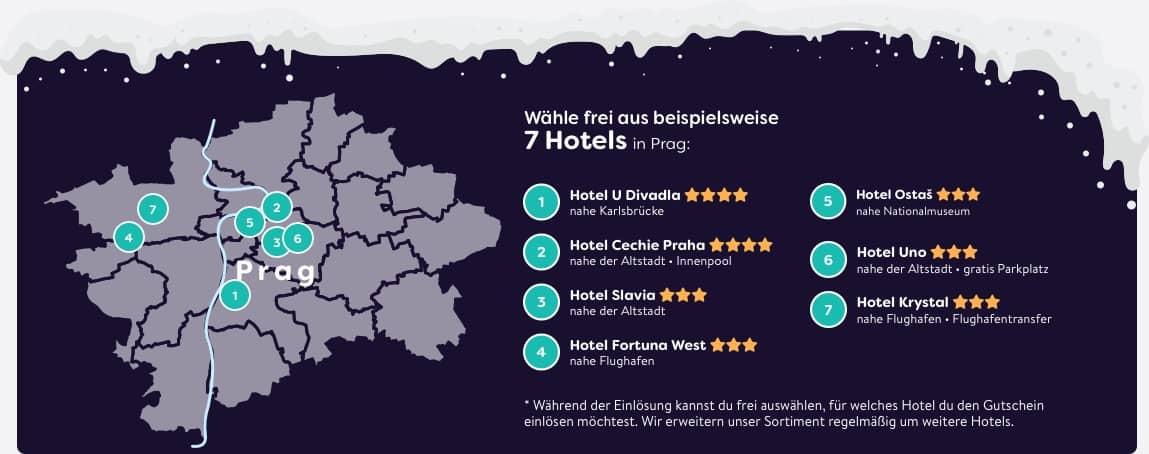 Prag Reisegutschein Hotels