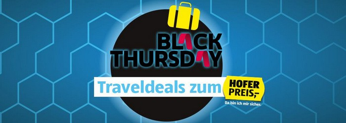 HOFER REISEN Black Thursday Traveldeals